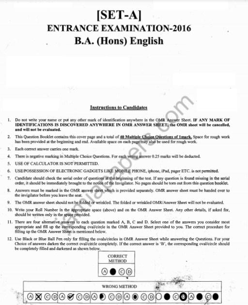 BA (Hons) English 2016