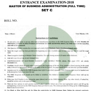 MBA - 2018 (Full Time)